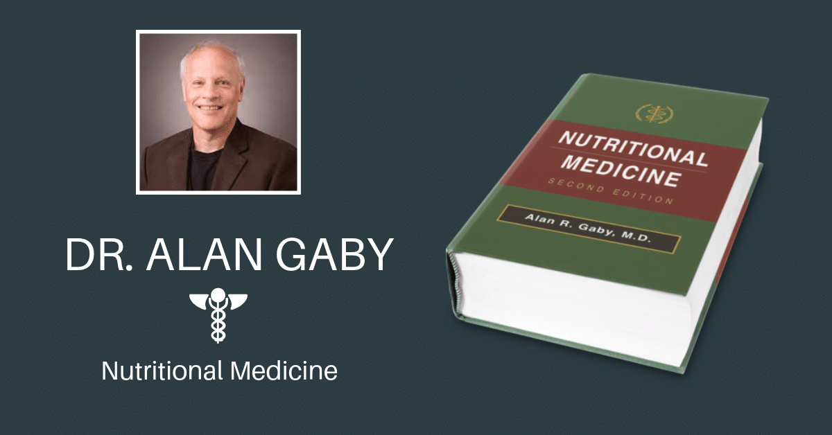 Dr. Alan Gaby with book Nutritional Medicine